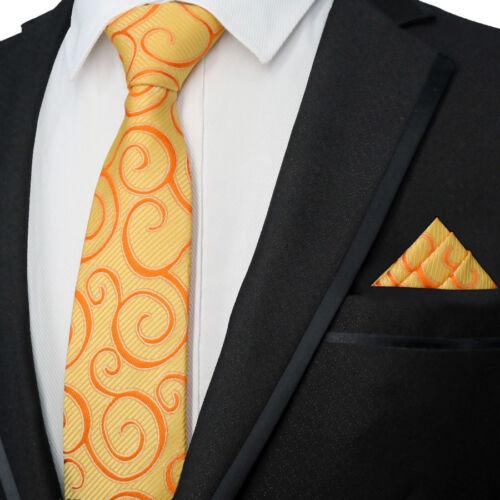 Striped Classic mens tie Handkerchief Set Floral Man Silk ties Wedding Party