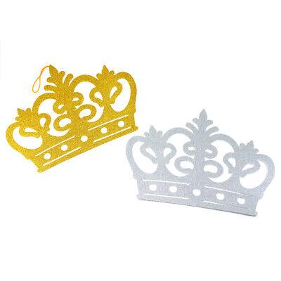 Glitter Foam Tiara Crown Cut-Outs 10-Count 3-Inch