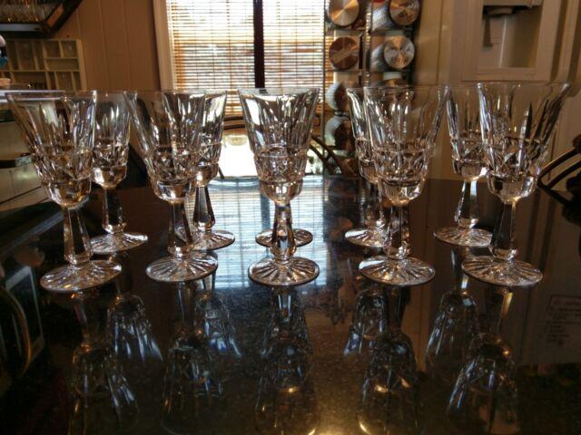 Set of 10 Antique Cut Glass Champagne Glasses
