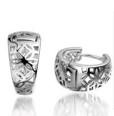 Bird Nest Design Jewellery Fashion Lady's 925 Sterling silver Hoop Earrings