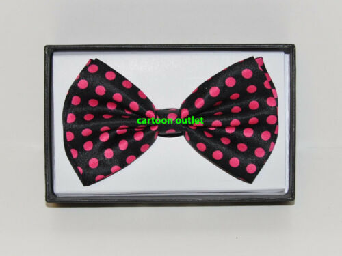 BOW TIE NECKTIE BOWTIE WEDDING TUXEDO ADJUSTABLE UNISEX MEN WOMAN POLKA DOTS PNK