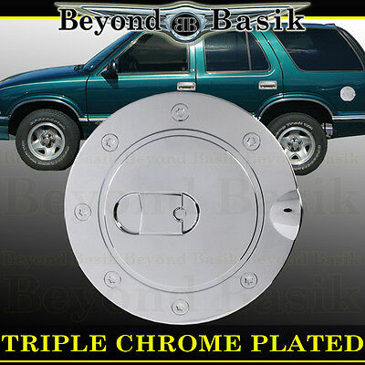 94-03 CHEVROLET S10 S-10 Triple ABS Chrome Fuel Gas Door Cover Cap Overlay Trims