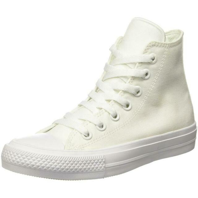 3d243d114b3f17 Converse Chuck Taylor All Star II Hi White Textile Adult Trainers Shoes