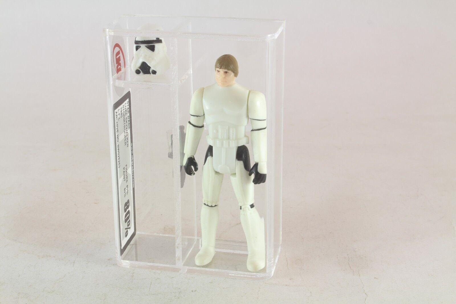 Star Wars Luke Skywalker Stormtrooper Vintage UKG classé classé classé 80 pas AFA 17 dernier 7c61a3