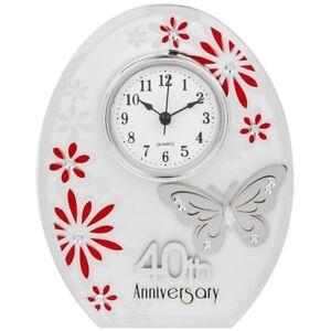 Anniversario Matrimonio 40 Anni Regali.Nuovo 40th Anniversario Di Matrimonio Orologio 40 Anni Di Marrage