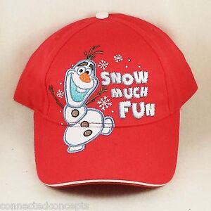 13fda6ed0 Christmas Disney's Frozen Olaf Snow Much Fun Youth Boys Baseball Cap ...