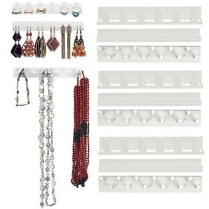 Details About Adhesive Jewelry Earring Necklace Hanger Holder Display Rack Sticky Hook