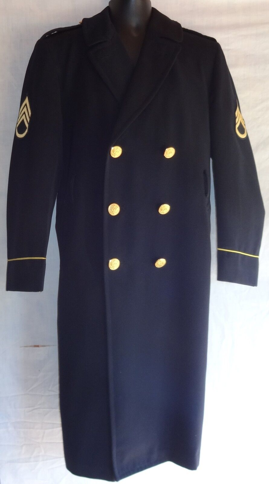 US Army Men's Dress bluees Enlisted Honor Guard ASU Service Overcoat