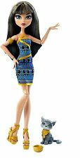 Monster High Cleo de Nile with Pet Kitten - Ghoul's Beast Pet - NEW