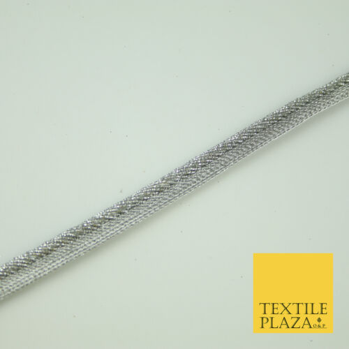 Silver Grey Rope Style Shimmer Fancy Border Edging Ribbon Ethnic Trim Lace X375