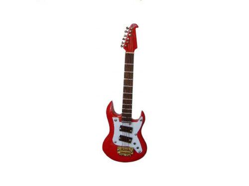 1:12 E-Gitarre rot 12 cm FL0574 für die Puppenstube Preis pro Stück!