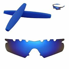 Polarized Ice Blue Vented Replacement+Blue Earsocks For Oakley M Frame Hybrid