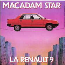 Renault 9 1981-82 Original French Flyer single sheet Brochure No. 780 129 987