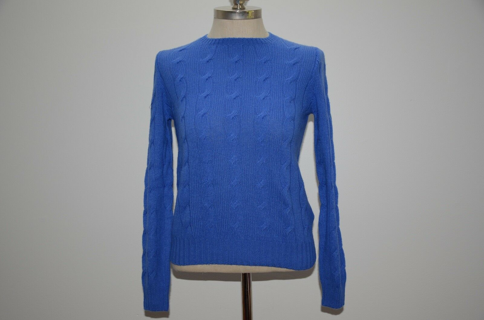 Ralph Lauren Collection Collection Collection Purple Label Made in  100% Cashmere Cable Sweater 74bea6