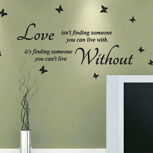 Image Is Loading Love Is Not Finding Someone Wall Quotes Stickers