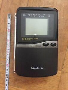 Televisor portátil antiguo marca Casio original Articulo de electrónica vintage