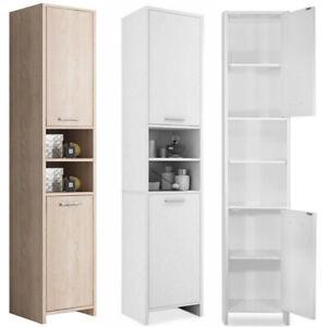 Modern Bathroom Cupboard Tall Cabinet Furniture Large ...