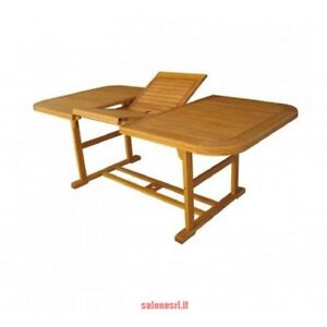 Tavolo riviera estensibile 120 160x80x75h in legno balau for Tavolo tondo estensibile