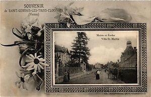 CPA Souvenir de St-GERVAIS-les-Trois-Clochers Mairie et Écoles Villa (255745)