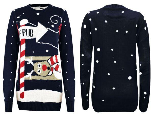 100% Verdadero Nuevo Jersey De Navidad Novedad Rudolph-a La Unisex Para Hombre Suéter De Las Señoras Pub-ver Precio Moderado