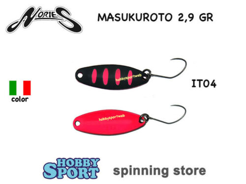 MASUKUROTO NORIES 2.9 GR ITALIAN COLOR IT04 SPOON AREA TROUT SPINNING