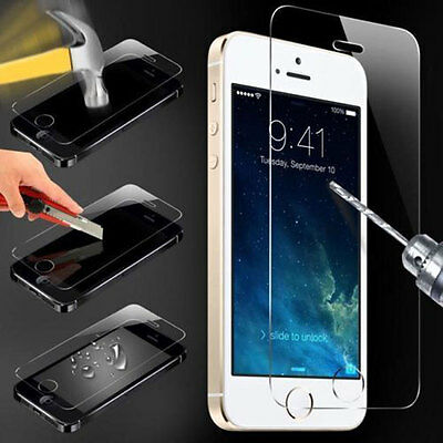 100% Genuine 9H Tempered Glass Screen Protector Cover For iPhone 4/4S/5/5S
