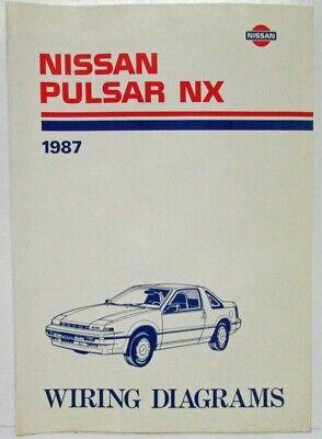 delorean wiring diagrams 1987 nissan pulsar nx electrical wiring diagram manual ebay  1987 nissan pulsar nx electrical wiring