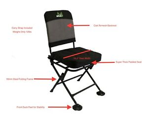 Details About Deer Turkey Hunting Comfort Blind Chair Swivel 360 Degree Allaboutantlerz