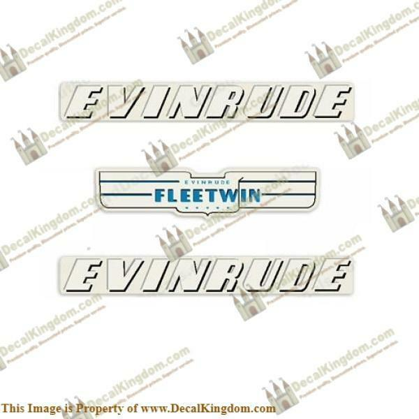 Evinrude 1951 7.5hp Outboard Decal Kit 3M Marine Grade