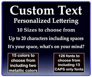Your Text Custom Stickers Personalized Decals Your Text Car Truck Laptop etc..