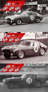 Brillant Calcas Ferrari 340 Mm Le Mans 1953 12 14 15 1:32 1:43 1:24 1:18 Slot Decals