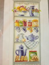 Vervaco Cross Stitch Kit Romantic Kitchen Shelf