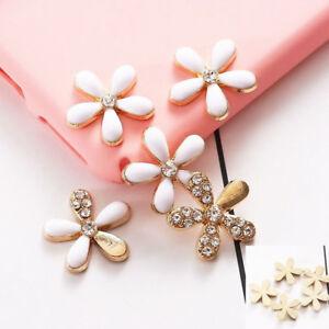 Metal Flower Crystal Beads Phone Case Nail Art Jewellery DIY Phone Accessory