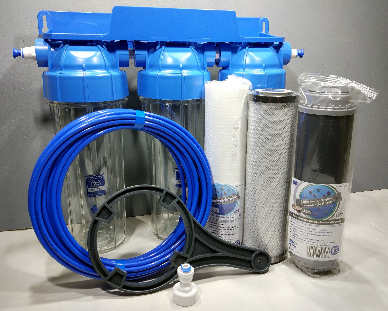 3 Fasi HMA DEPURATORE Koi Laghetti & dechlorinator sistema di filtro