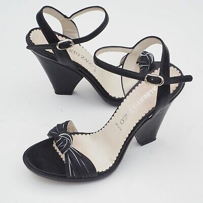 Fantastic ALBERTO ZAGO Ladies Italian Leather Monochrome Sandals EU 40 Fit UK 6 | eBay