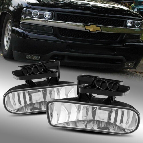 Fits 1999-2002 Silverado 1500//01-02 2500//3500 Clear Fog Lights Driving Lamps Kit