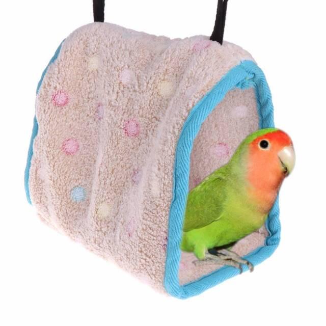 Cute Winter Warm Bird Nest House Hut Cage Hammock Macaw Parakeet