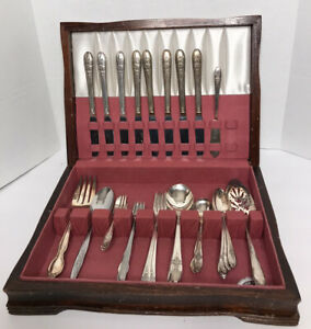 International-Silver-Company-WM-Rogers-Bros-Silberbesteck-Set-48-Stk-gebraucht