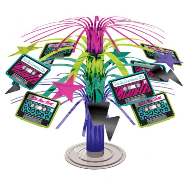 années 1980 fête Cascade Mini Pièce maîtresse de table Disco Musique Décoration