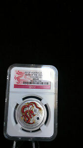 Australia-2012-P-S50C-1-2-oz-Silver-Colorized-Dragon-NGC-MS69-Coin-Australia