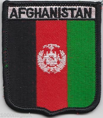 NEW AFGHANISTAN COUNTRY FLAG SMALL IRON ON PATCH CREST BADGE ..