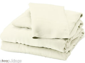 Image Is Loading FITTED BED SHEETS ELECTRIC BEDS IVORY 2FT6 3FT