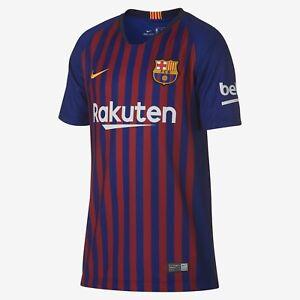 Youth Nike FC Barcelona Official 2018 2019 Home Big Kids  Soccer ... c8831f1e6ecb6