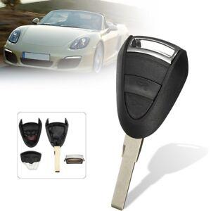 2Pcs 2 Button Remote Key Fob Case Shell Uncut For Porsche Boxster S 986 911 996