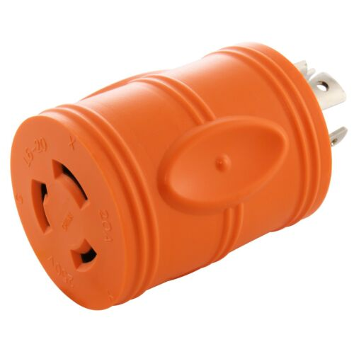 Compact Industrial//Generator Adapter NEMA L14-20P to NEMA L6-20R by AC WORKS™