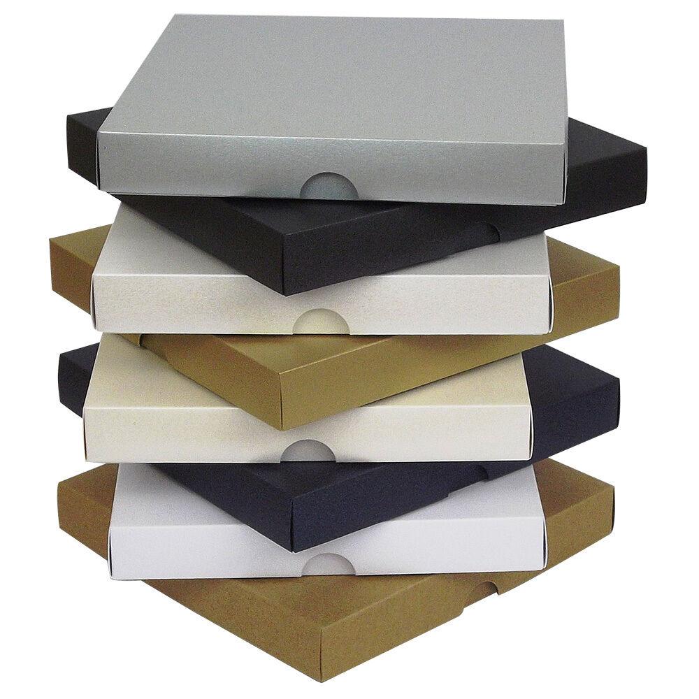 Cajas de tarjeta de felicitación Nacarado 5 x5 , regalo, boda. elige Color y cantidad