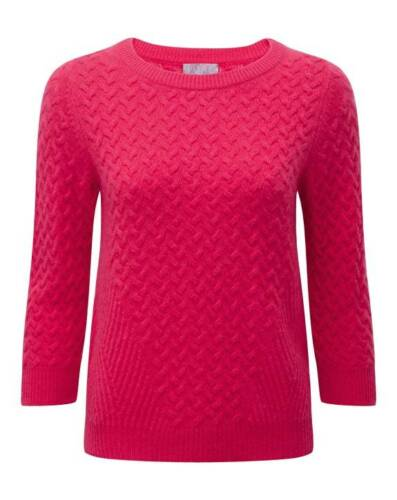 Cashmere Sweet Rrp 8 Pink Pure Uk Size Sweater Lf171 Collection 06 Kk £150 Cable ZRSwxBT