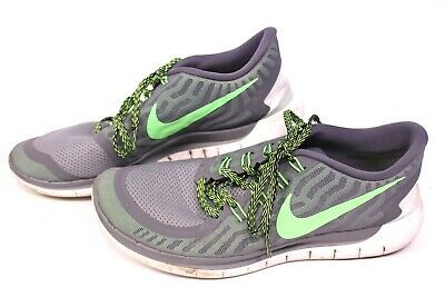 Nike Free 5.0 Hommes Chaussures De Course Taille 45 Vert Gris Running Fitness Sneaker | eBay