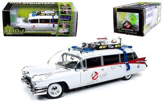 Auto World argento PanDimensione máquinas Ghostbusters 1959 Cadillac Eldorado Ecto - 1 118