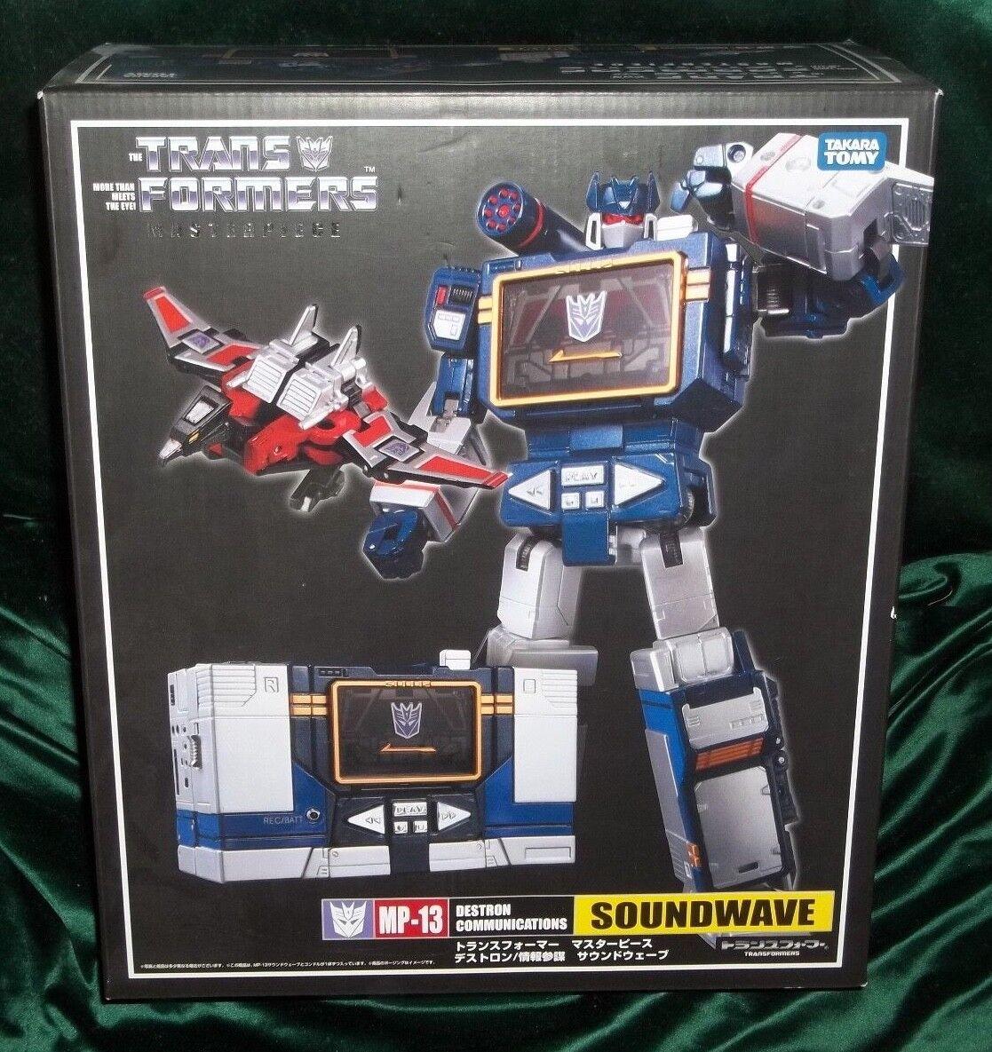 Transformers masterpiece mp-13 takara decepticon soundwave & laserbeak figure